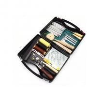 Kit Premium - Maleta de Utensílios para artesanato com couro