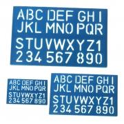 Kit Régua Alfabeto - 3 Tamanhos