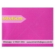 Base de corte 60x45 rosa - dupla face