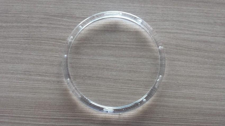 2 Argolas Acrílicas Transparente 150MM