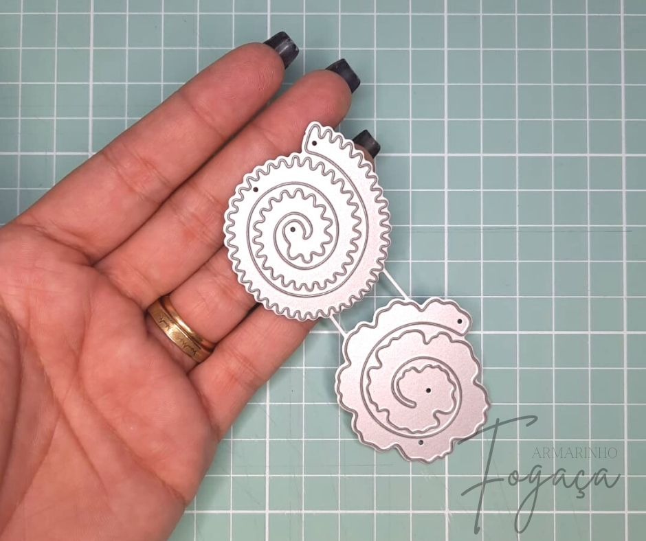 2 Faca de Corte Flor Espiral