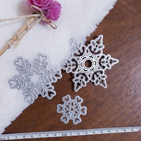 3 Facas de Corte Scrapbook Floco de Neve Jf06