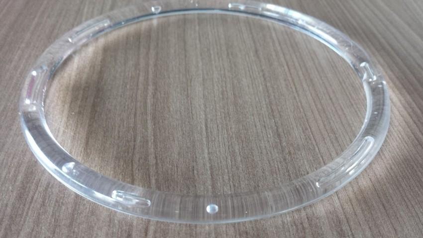 5 Argolas Acrílicas Transparente 75MM