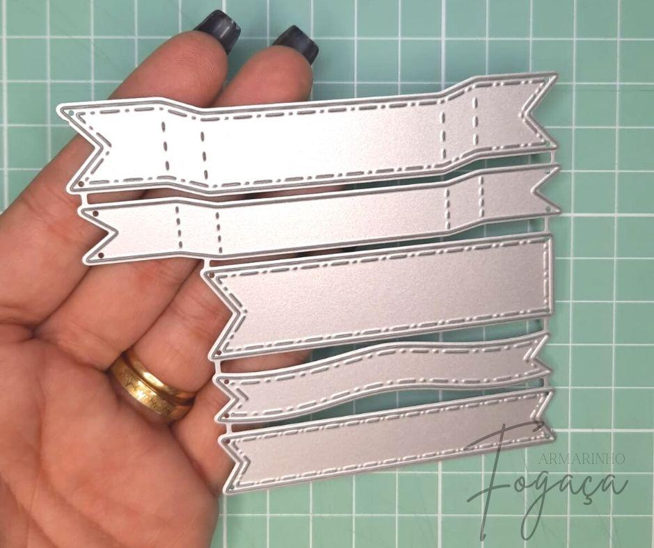 5 Facas de Corte Scrapbook Tag/ Bandeirolas