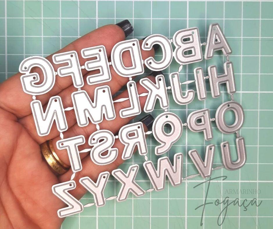 Alfabeto 1,8cm - Faca de Corte scrap