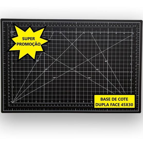 Base de corte Preto com Cinza - dupla face 30x45CM