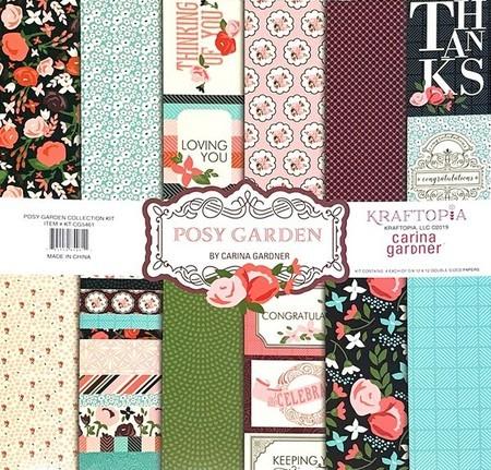 Bloco de papel coleçao Posy Garden - 24 folhas