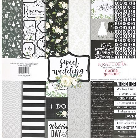 Bloco de papel coleçao Sweet Wedding - 24 folhas