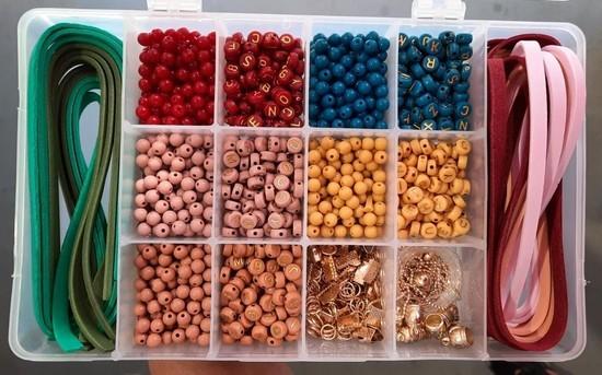 Box DIY Pulseiras Inverno (+600 itens)