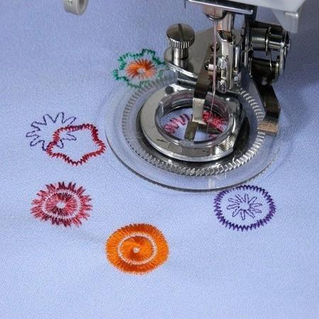 Calcador Flor - bordado - maquina costura