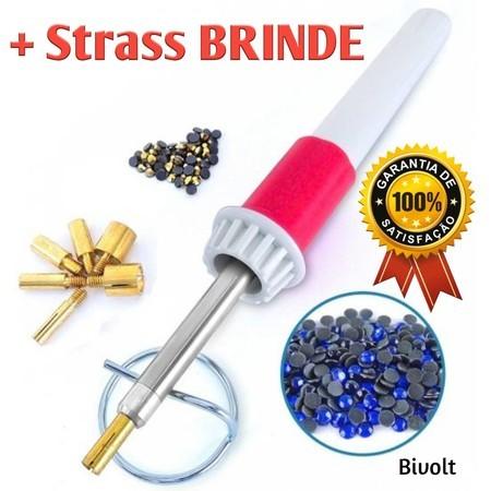 Caneta aplicadora de strass - Hotfix - bivolt