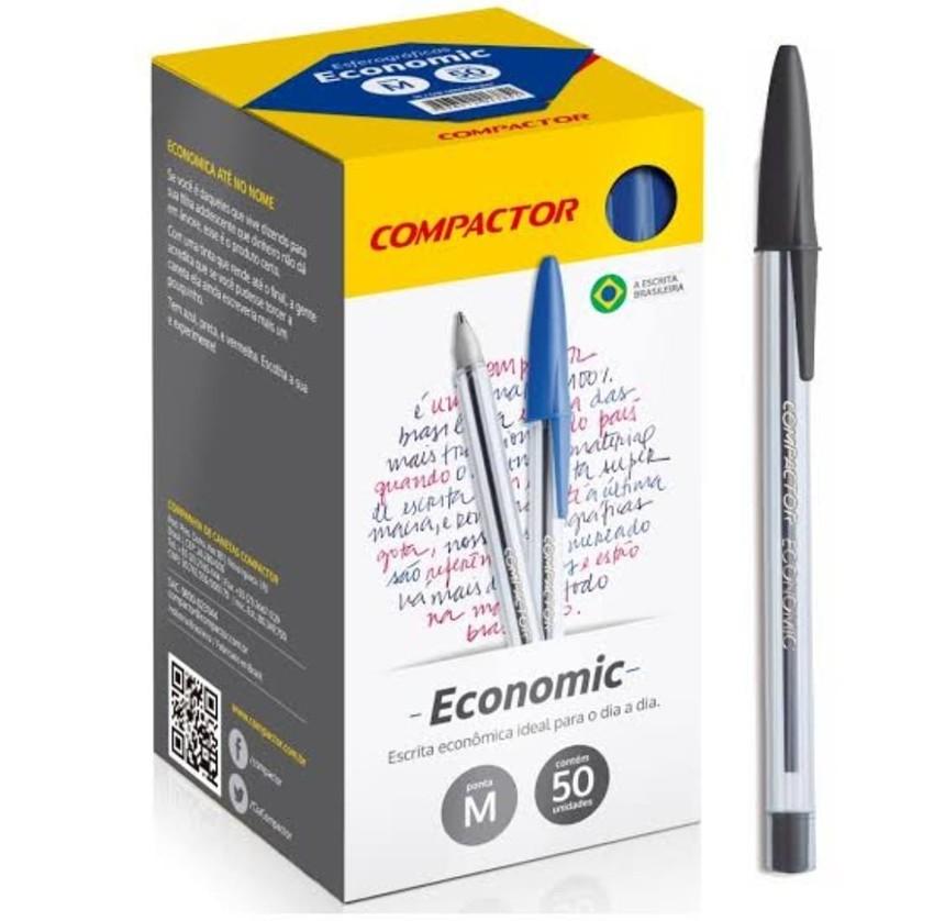 Caneta Esferográfica Economic Compactor - 1 UNID