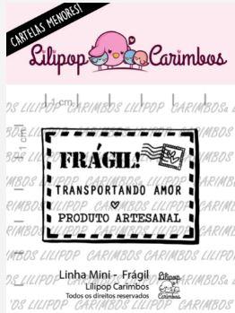 Carimbo - Frágil! - Mini - Scrapbook