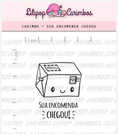 Carimbo - Sua Encomenda Chegou  - Scrapbook