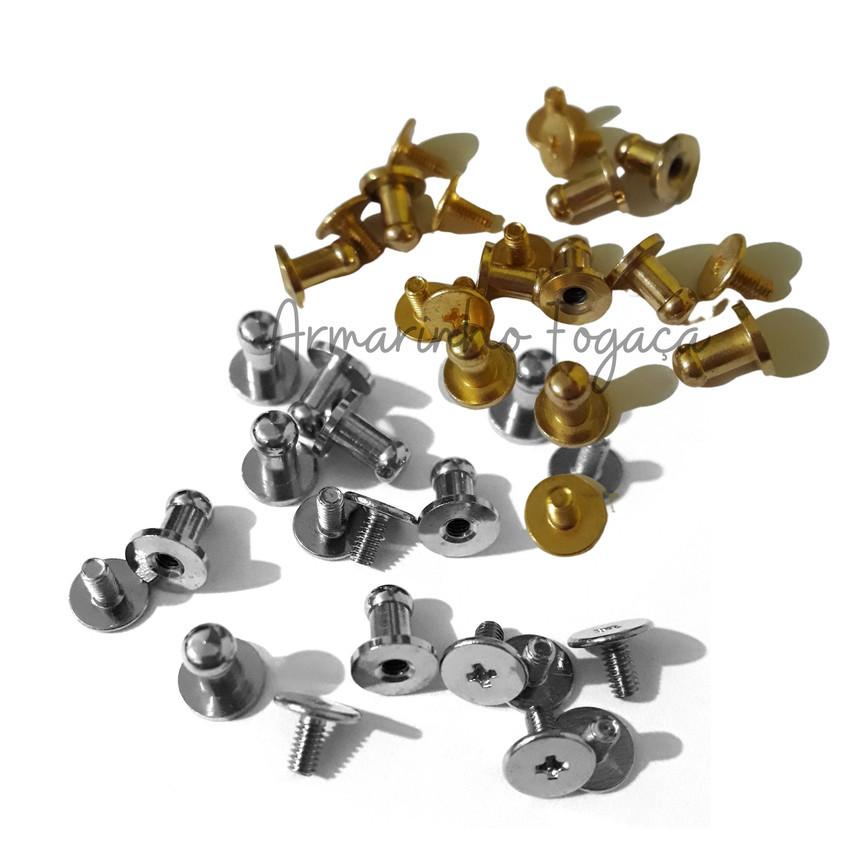 Carrapetas - Puxador metal - Pezinhos - 5 unid