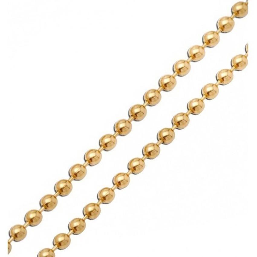 Corrente Bolinha para Chaveiro Dourado 1.5mm