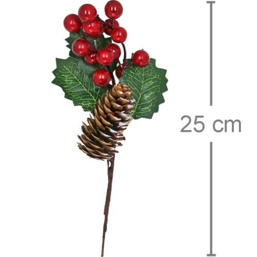 Galho de Natal - Pinha, azevinho
