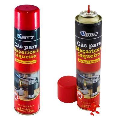 Gás para Maçarico e Isqueiro 300ml - Western