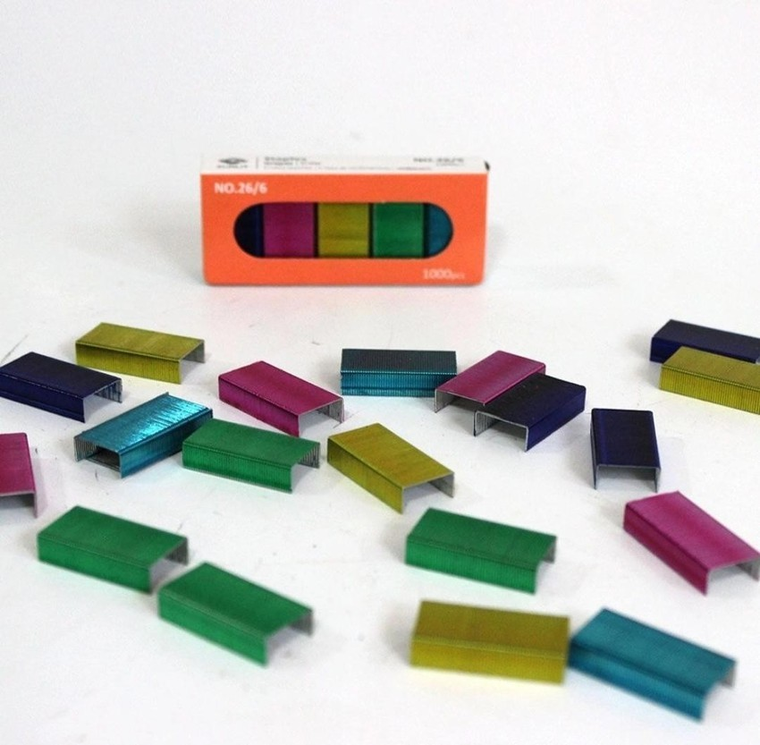 Kit Grampeador Magnetico + Grampos Color