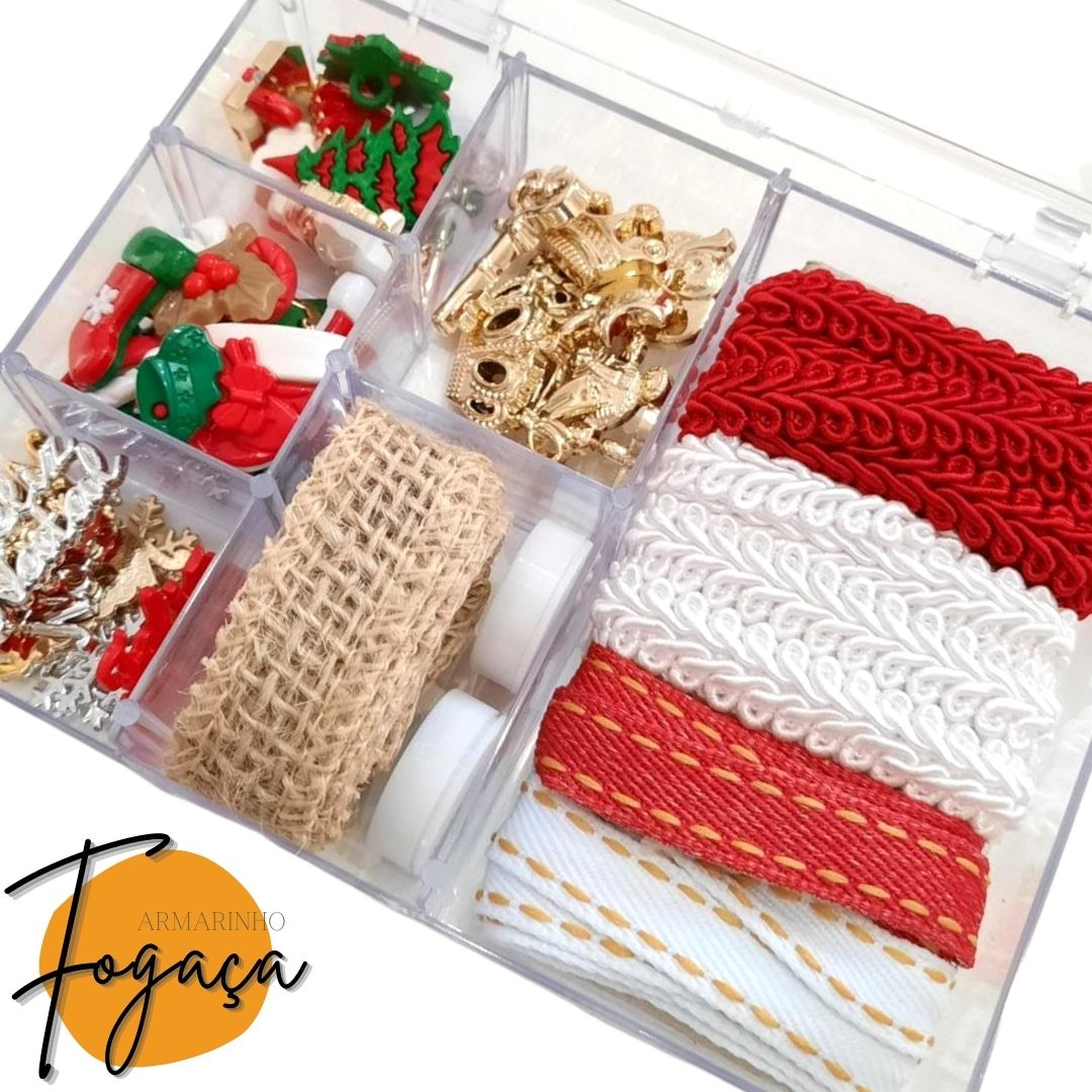 Mini Box Luxo Natal / Botões / +40 Itens