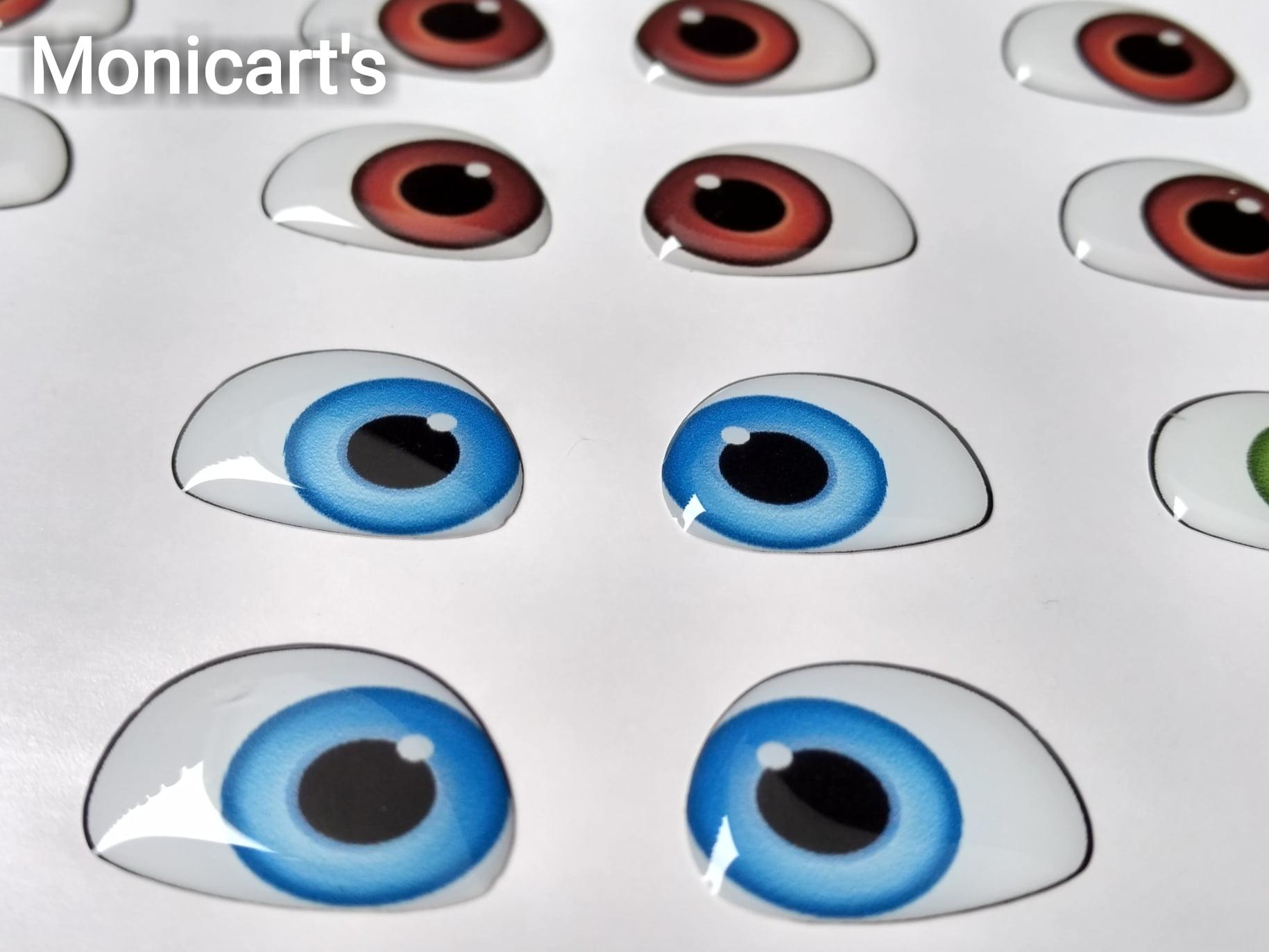 Olhos Adesivos resinados 410 Monicarts