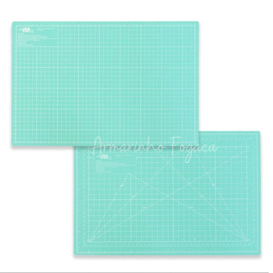 Base de corte Verde Agua Candy - dupla face 30x45CM