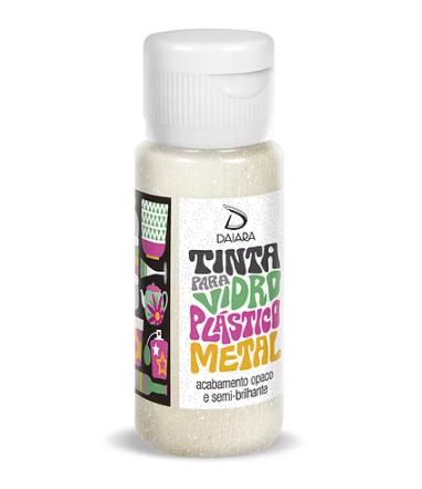 Tinta Metálica Vidro/Plástico/Metal 60ml - ESCOLHA A SUA COR - ArtesanaTo - Daiara - Pintura