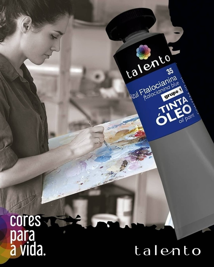 Tinta Óleo 20ml - Talento - ESCOLHA A SUA COR