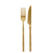 Conjunto de Talheres Bambu Elegant Dourado