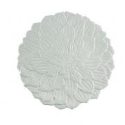 Prato Raso Porcelana Daisy Branco 27cm - Wolff