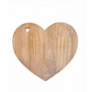 Tábua de Coração madeira -  29,5X26,5 CM
