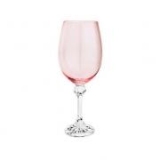 Taça para Vinho em Cristal Ecológico Elisa Rosê Quartz - 450ml