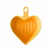 Travessa Coração Color - Amarela