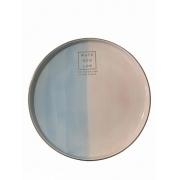 Travessa de Porcelana Brisa rosa/azul