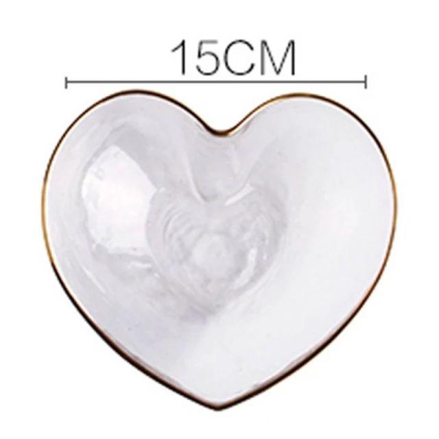 Bowl vidro borossilicato c/ borda Dourada Heart