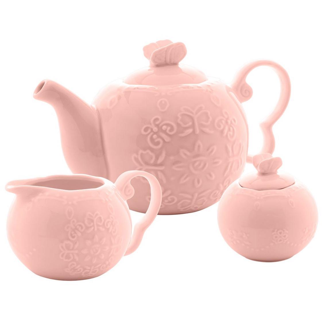 Cj com 3 peças de chá Butterfly