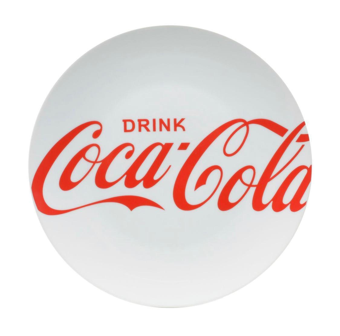 Conjunto com 2 Pratos Rasos Coca Cola