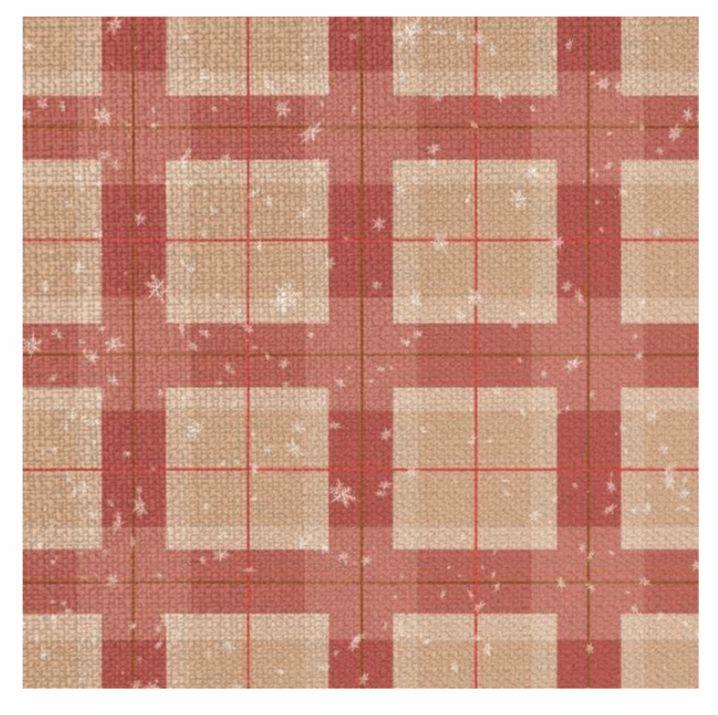 Guardanapo xadrez vermelho - Natal