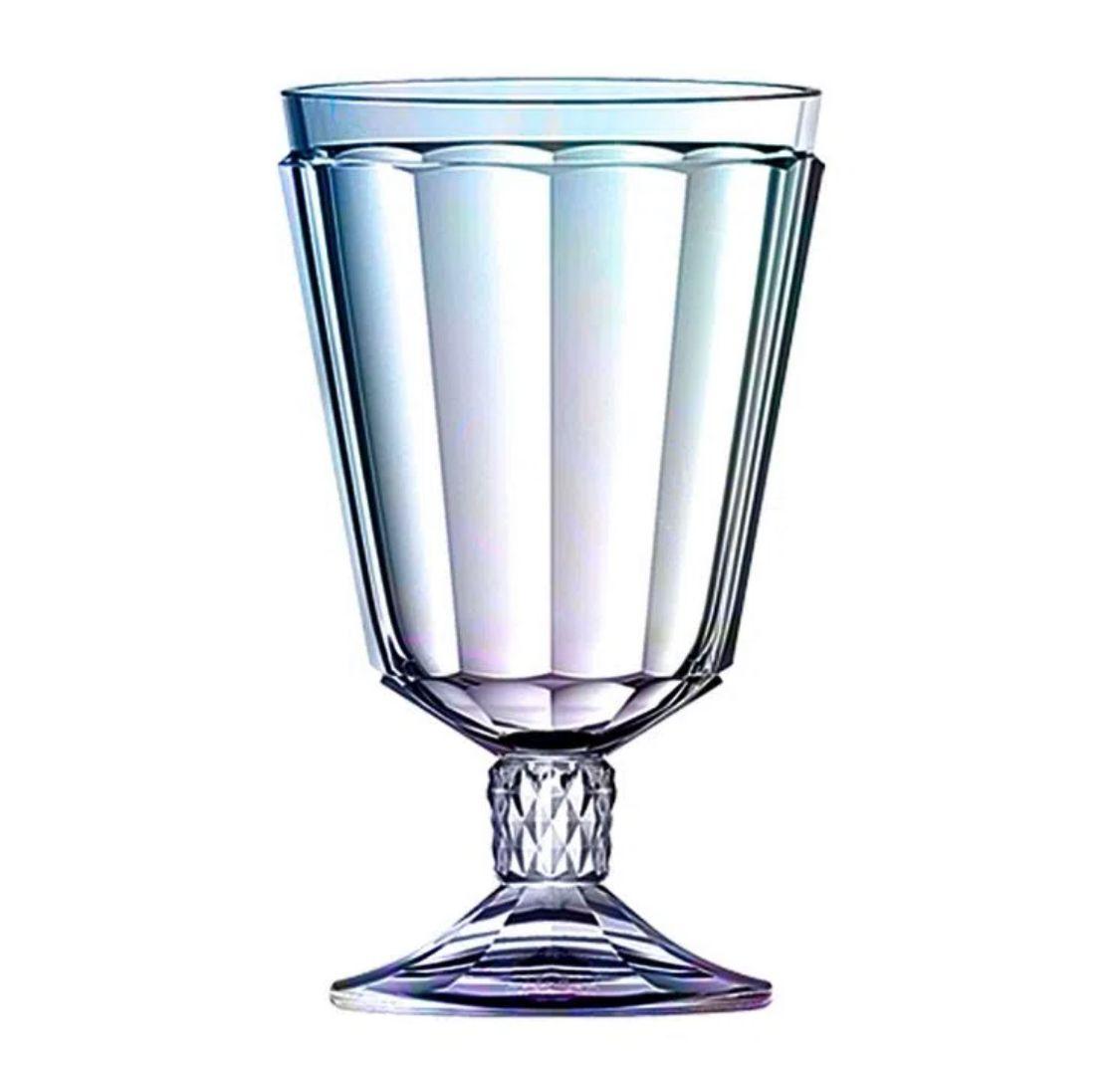 Jogo de 6 taças em vidro 330ml A15cm furta cor