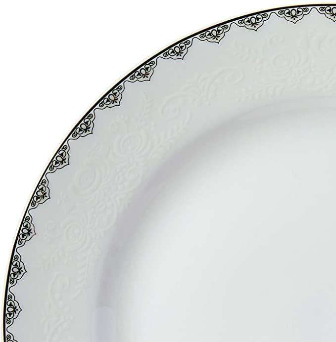 Prato de Sobremesa Bone China Minsk Prateado 20cm