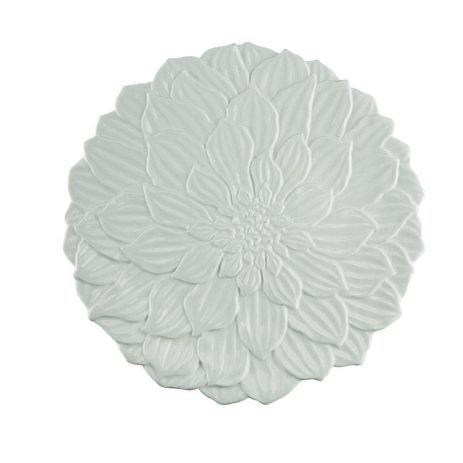 Prato de Sobremesa Porcelana Daisy Branco - 19cm