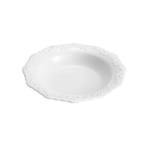 Prato fundo Porcelana Durable Porcelain Alto Relevo