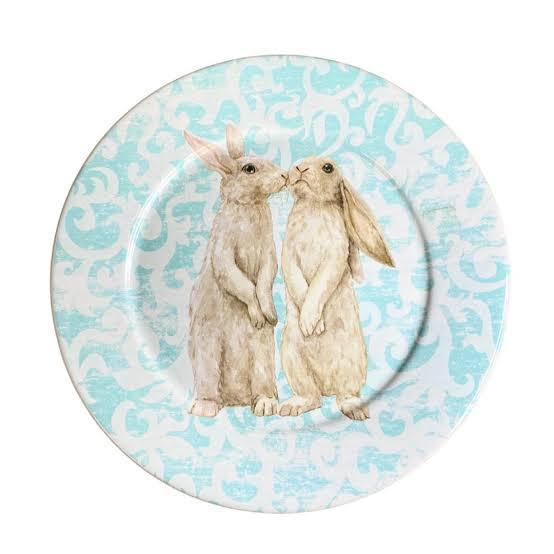 Prato Raso Sweet Easter Azul - Scalla Concept Páscoa 2021
