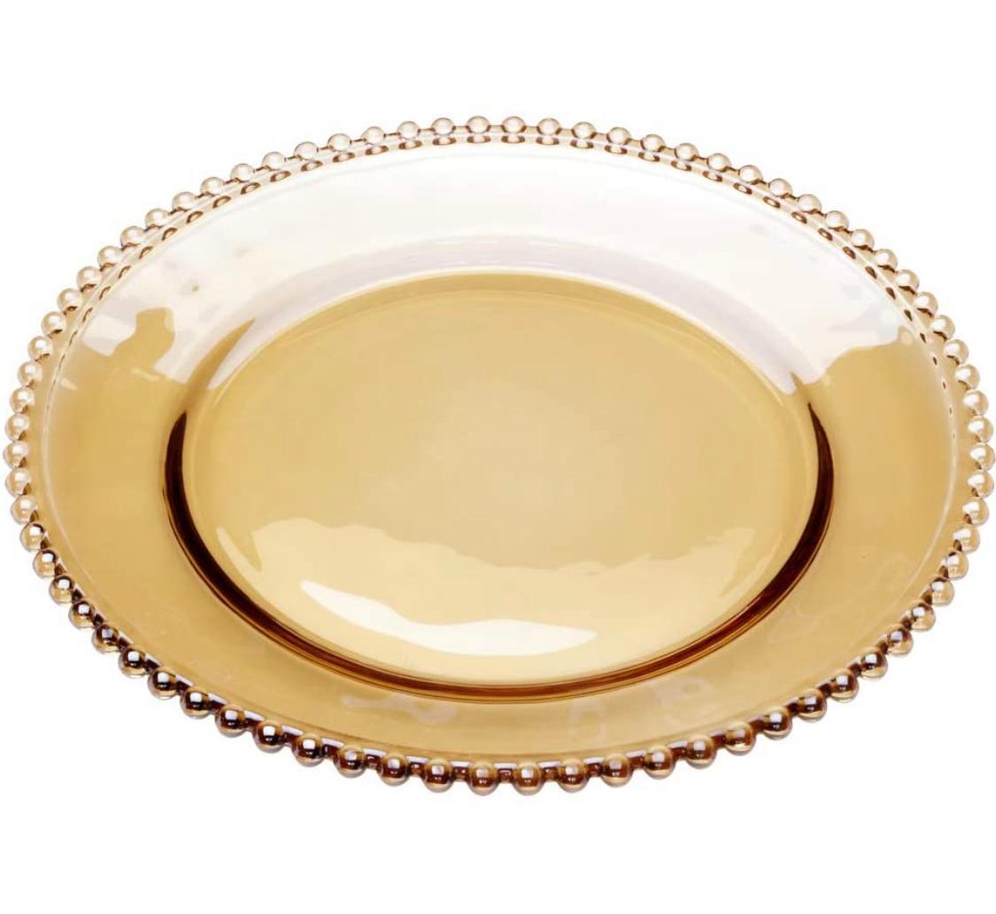 Prato de Sobremesa Pearl Âmbar