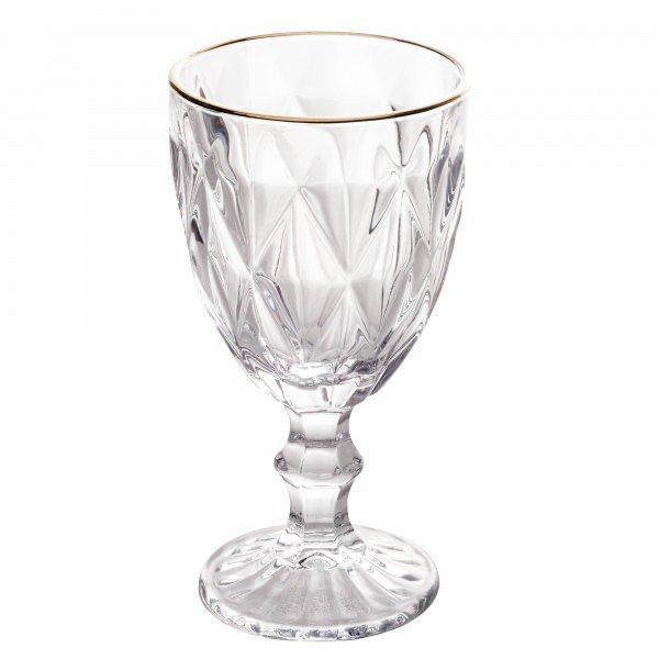 Taça para Água Diamond 325ml Lyor Filete Dourado
