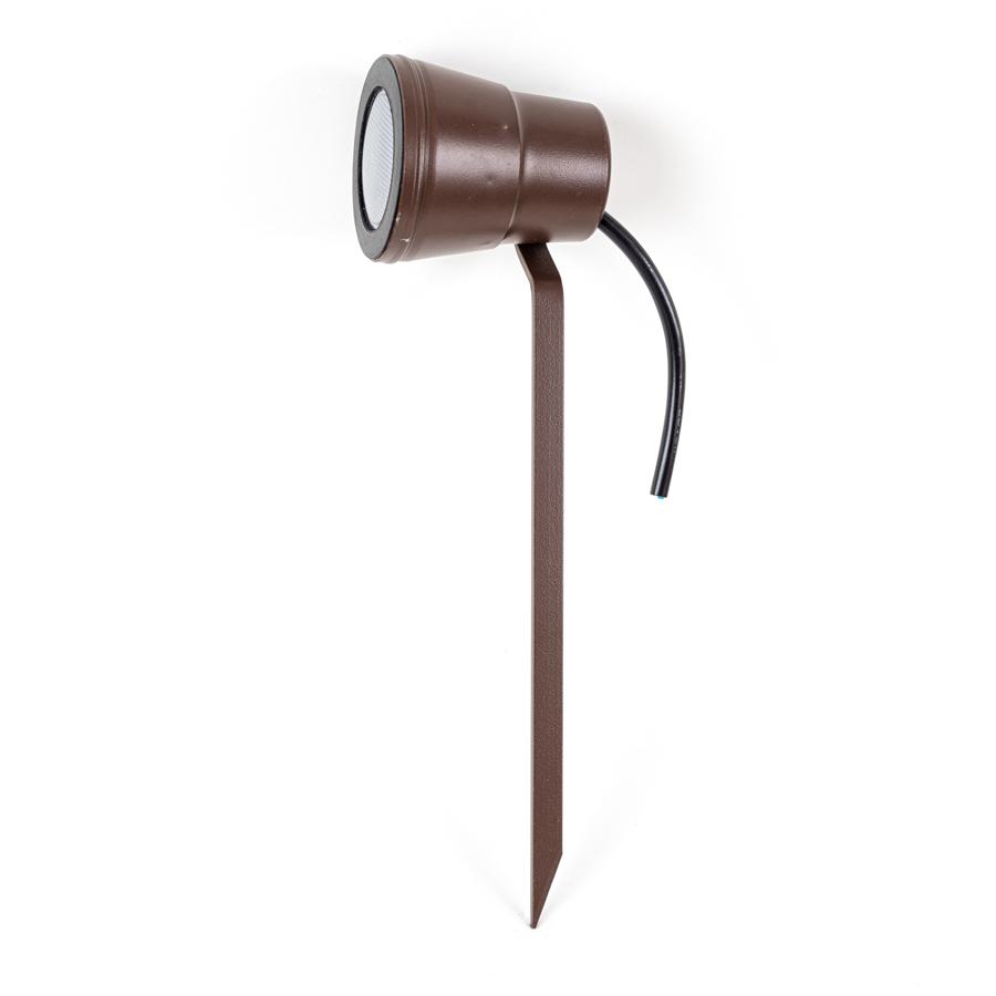 ESPETO DE JARDIM  LAMPADA DE LED - MARROM