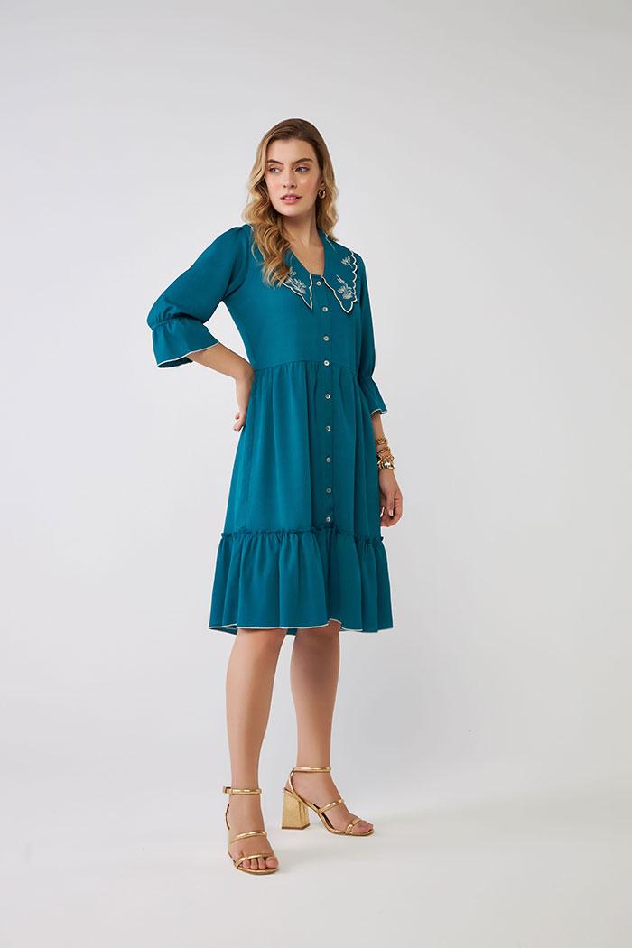 Vestido Gola Embroidery