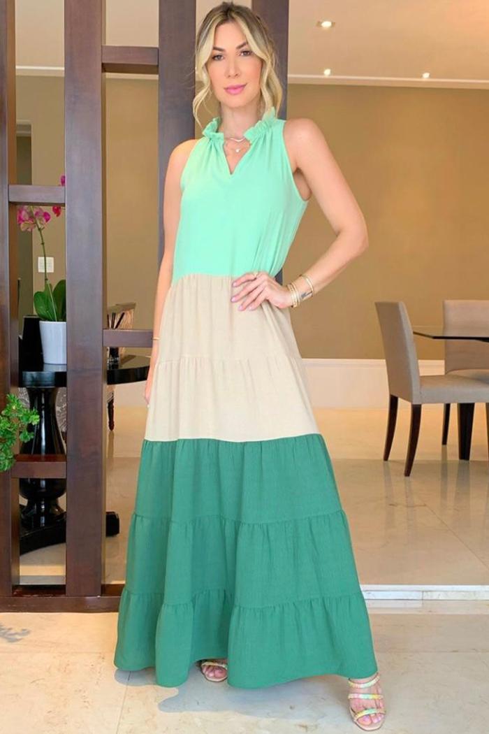 Vestido Longo Camada