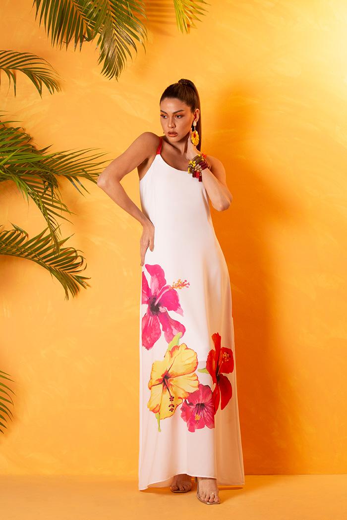 Vestido Longo Print