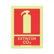 Extintor de CO2 - Fotoluminescente